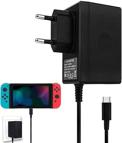 Cargador de interruptor de Nintendo, adaptador de CA para cargador ...