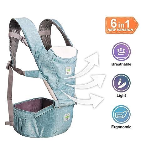 Dewel Mochila Portabebés,Fular portabebés Transpirable Ergonomicos Portador de Bebé para Crecimiento de Bebé 0
