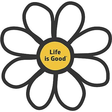 Life is Good. Die Cut Sticker Daisy LiG - Cloud White