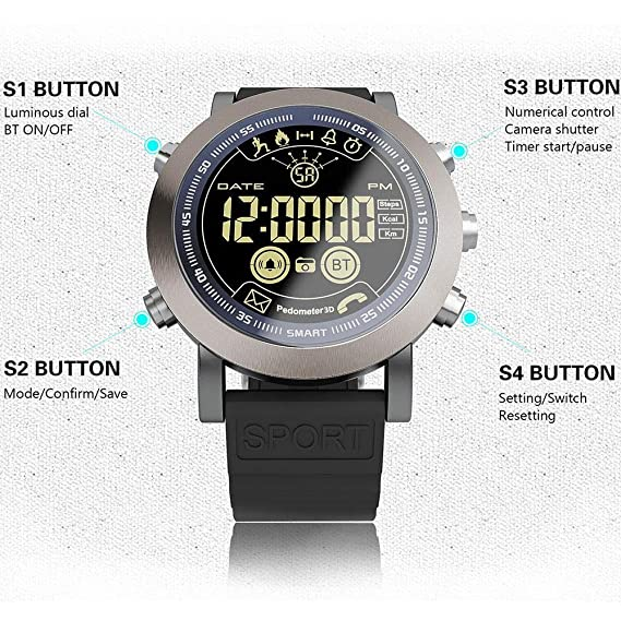 LEMFO LF23 Reloj Inteligente [2018 versión actualizada], IP68 ...