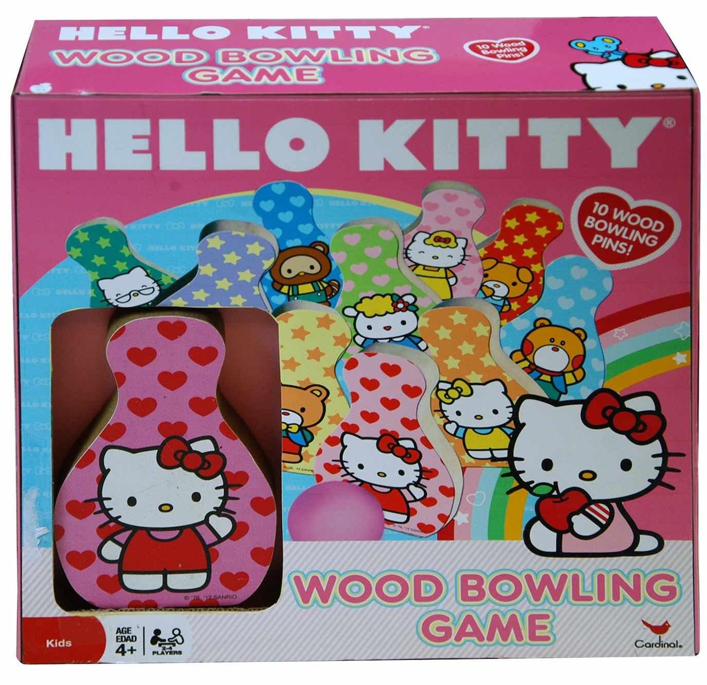 Hello Kitty Wood Bowling Game Set