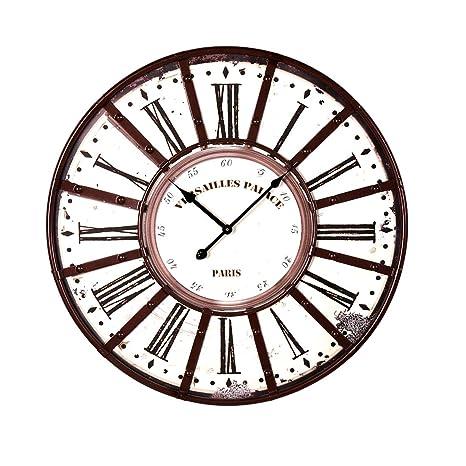 YVSoo 58cm Reloj de Pared Grande Reloj Pared Vintage Reloj Silencioso Decoración Adorno para Hogar Salon