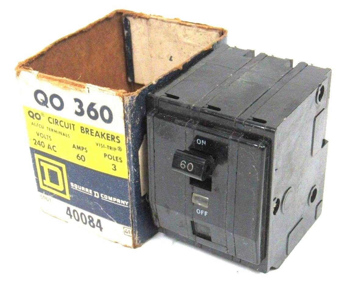 New Square D Qo 360 Circuit Breaker Qo360 40084 Two Pole 30 Amp Hom230cp By Schneider Electric Industrial Scientific