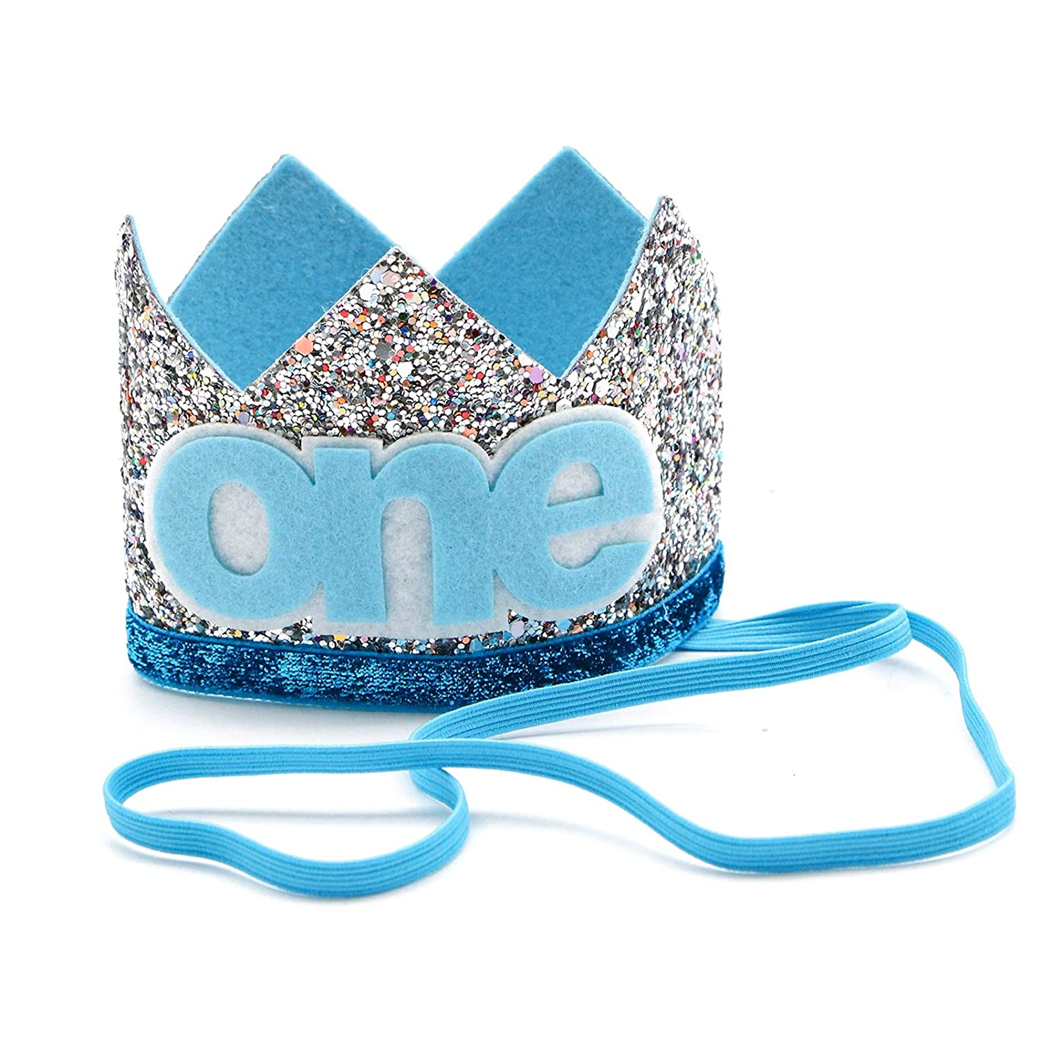 WSSROGY Blue Baby Boys One Year Old Birthday Hat,First Birthday Party Hairband