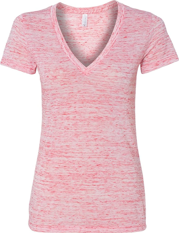 Bella Ladies' Deep V-Neck Jersey T-Shirt 6035