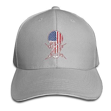 7e7ece6994c Amazon.com   Michael Rong Unisex Adjustable Sandwich Hats Solid ...