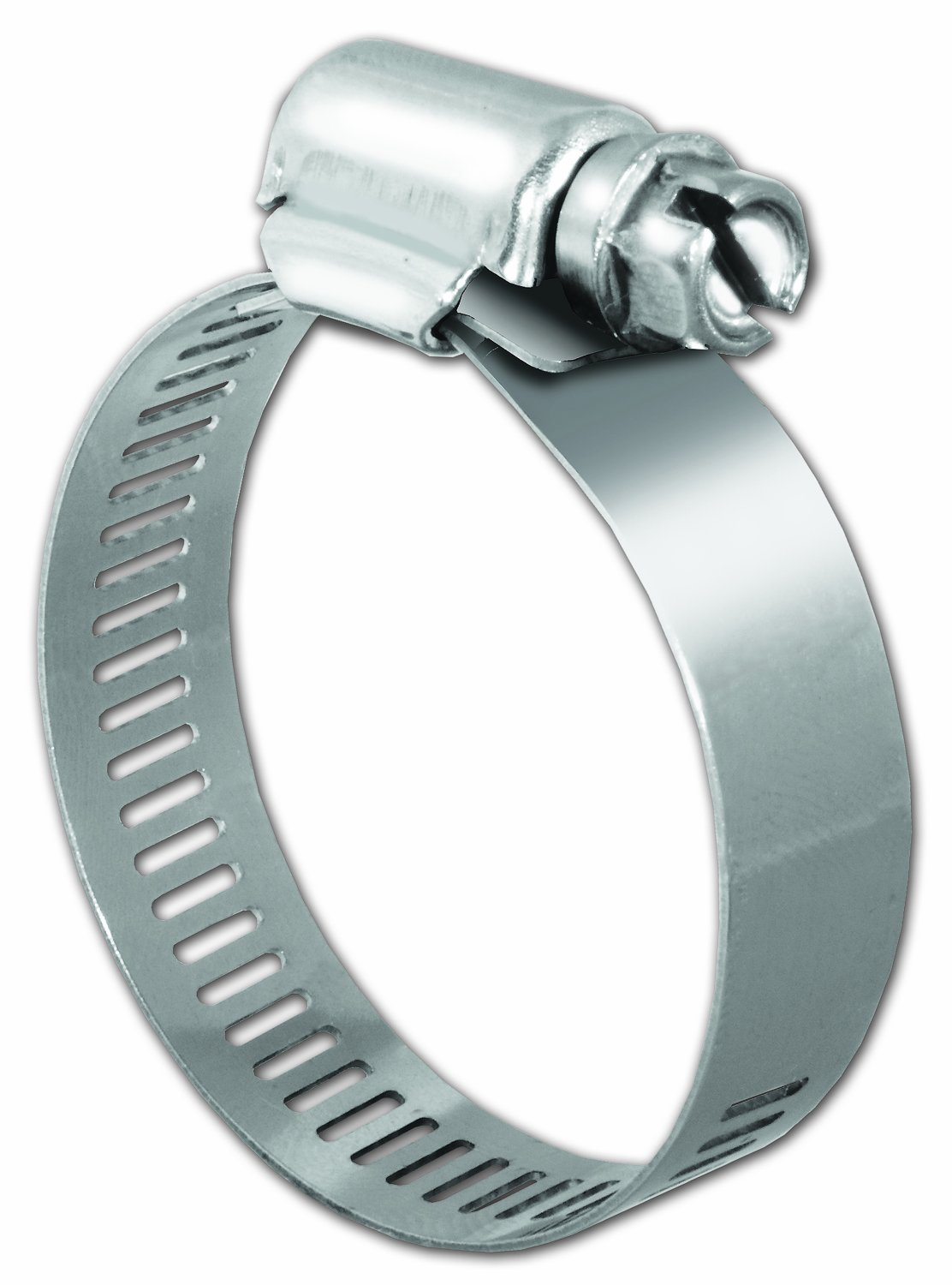 Pro Tie 33005-50 SAE Size 16 Range 13/16'' To 1-1/2'' Regular Duty All Stainless Hose Clamp, 50 Pack,