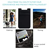 Phone Card Holder for Back of Phone, Stretchy Lycra Wallet Stick On Pocket Credit Card ID Case Pouch Sleeve 3M Adhesive Sticker Compatible with iPhone Samsung Galaxy Android Smartphones - 3Pack