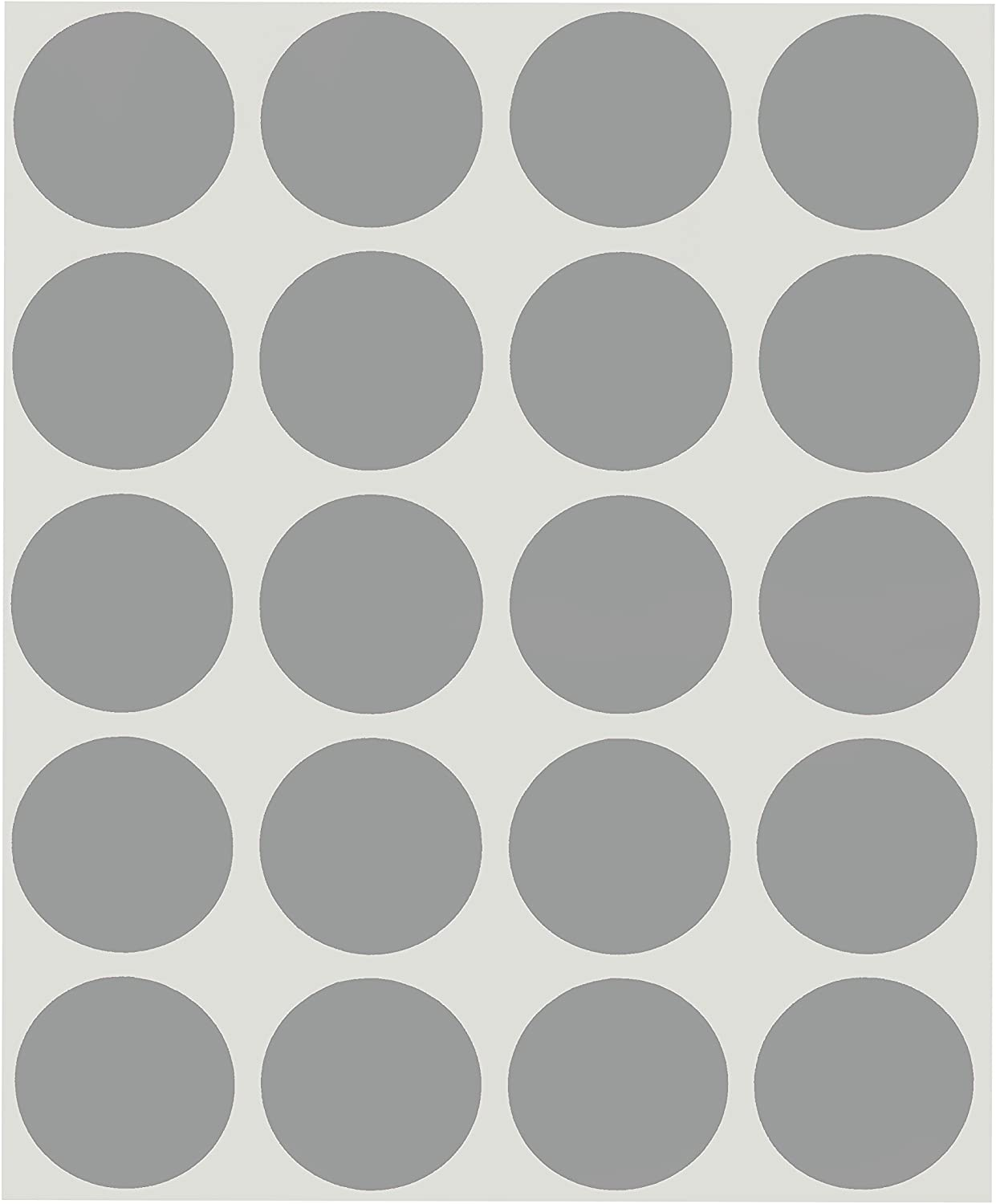 """1//4/"""" Lt GREY GRAY Round Color Coding Inventory Label Dots Stickers MADE IN USA"""