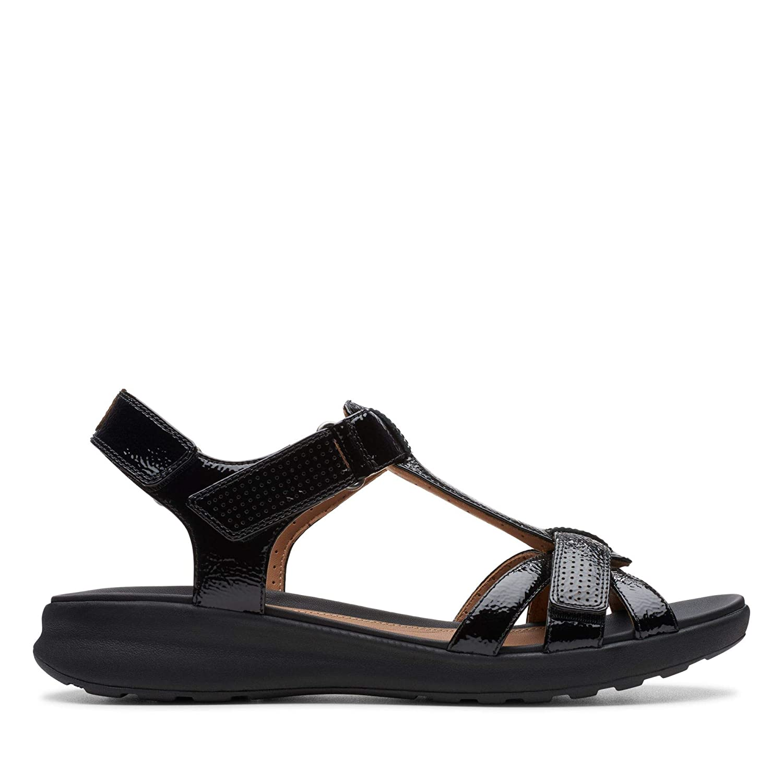 Clarks Un Adorn Vibe Patent Sandals in