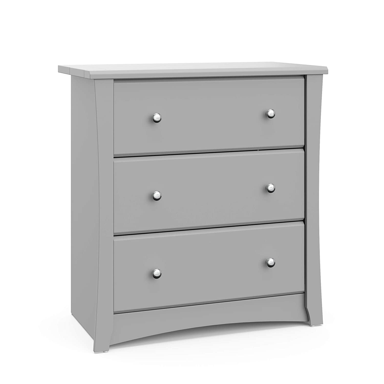 Storkcraft Crescent 3 Drawer Chest - Pebble Gray