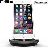 iPhone Lightning Dock, NXET® [Apple MFi certificato] [Caso compatibile] Tavolo della culla del caricatore, carica e sincronizzazione di dati del basamento del supporto di ricarica per iPhone 5 5C 5S SE 6 6S 7 Plus, iPad 4 / Mini 1,2,3,4 / Air 2/ Pro 9.7 '', 12,9 ''