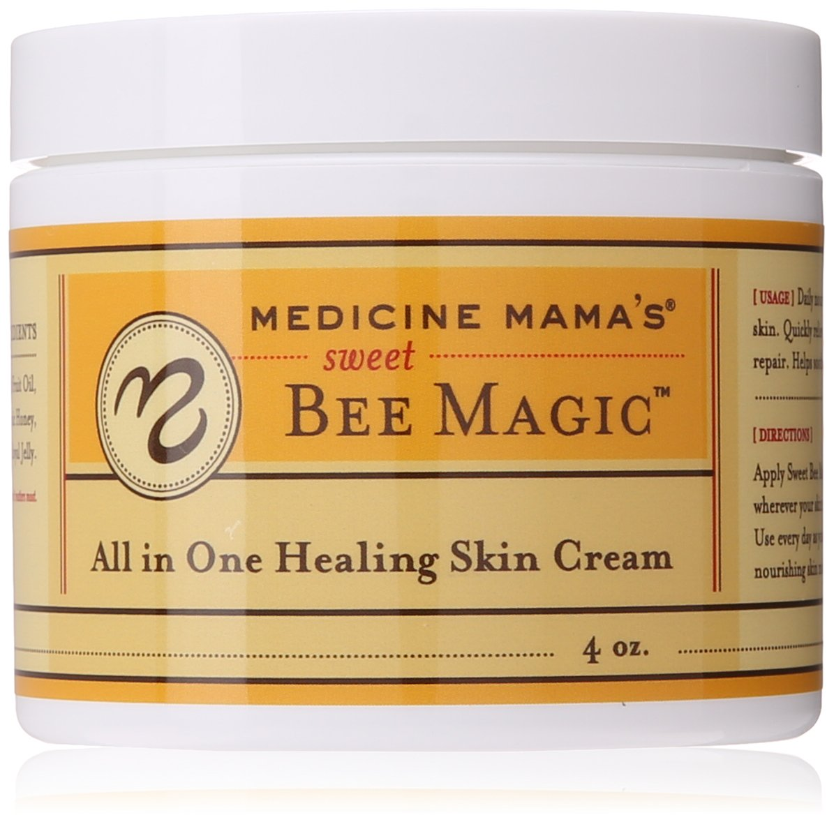 Medicine Mama's Apothecary Sweet Bee Magic All In One Healing Skin Cream, 4 Ounce by Medicine Mama's Apothecary