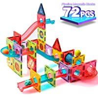 ZAYOR Magnetic Tiles Blocks for Kids 3D with Clear Color Educational Toys Magnetic Marble Run Magnetic Building Blocks…