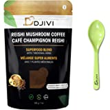 Dodjivi Ganoderma Reishi Mushroom Coffee Mix, Focus Stress Relief, Immunity, Antioxidant, Keto, Fast, Instant Coffee Herbal Blend - Superfood with Eco-friendly, Biodegradable & Reusable Bonus Bamboo Spoon) - (200g/7Oz)