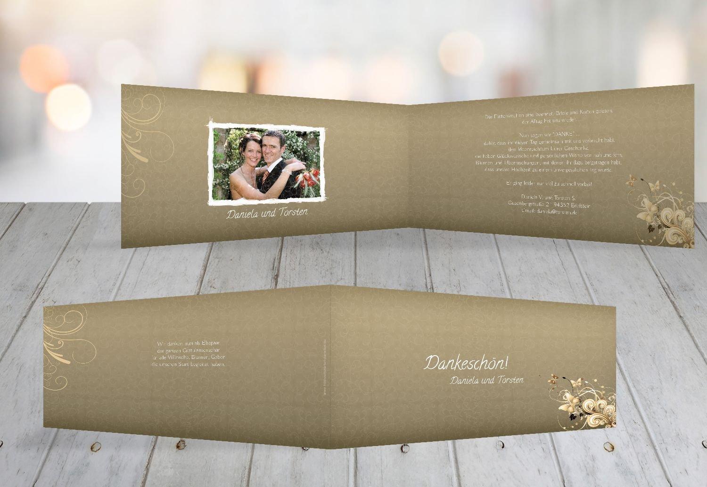 Kartenparadies Danksagung für Hochzeitsgeschenke Hochzeit Danke Din Liebeswunder, hochwertige Danksagungskarte Hochzeitsglückwünsche inklusive Umschläge   10 Karten - (Format  215x105 mm) Farbe  DunkelGelb B01N4QKA5W | Perfekt In Verar