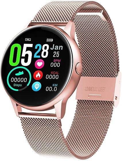 Adminitto88 Reloj Inteligente Mujer,Smartwatch con Pulsómetro ...