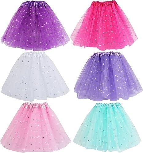 Kilofly - Juego de 6 niñas tutú de Ballet para niños cumpleaños ...