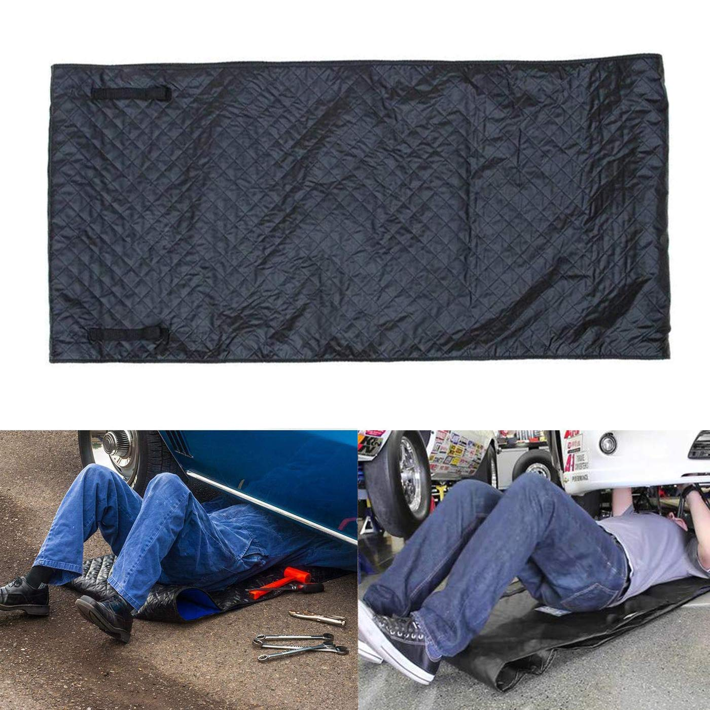 OHMU Automotive Car Creeper, Zero Ground Auto Mechanics Repair Creepers Mat Rolling Pad Under The Vehicle for Cars Working and Household (Black)