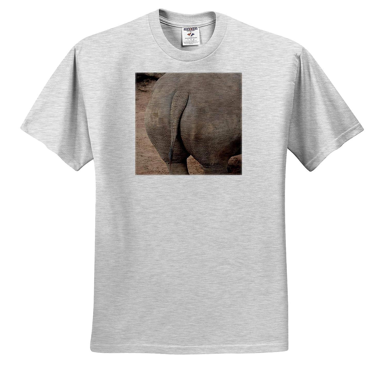 T-Shirts Rhino Butt rhiocerous 3dRose Susans Zoo Crew Animal