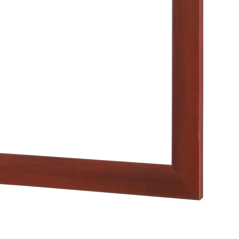 OlimpJOY Cadre Photo 97 x 53 cm Cadre en MDF Rouge Flou 35mm avec Verre Acrylique antireflet