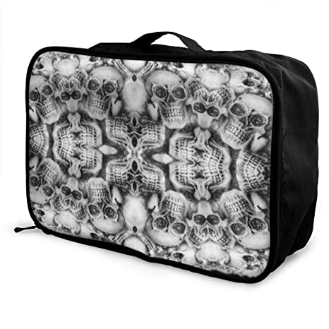 2bd25249fd45 Amazon.com: Packing Cubes Skull Travel Luggage Bag Receive Storage ...
