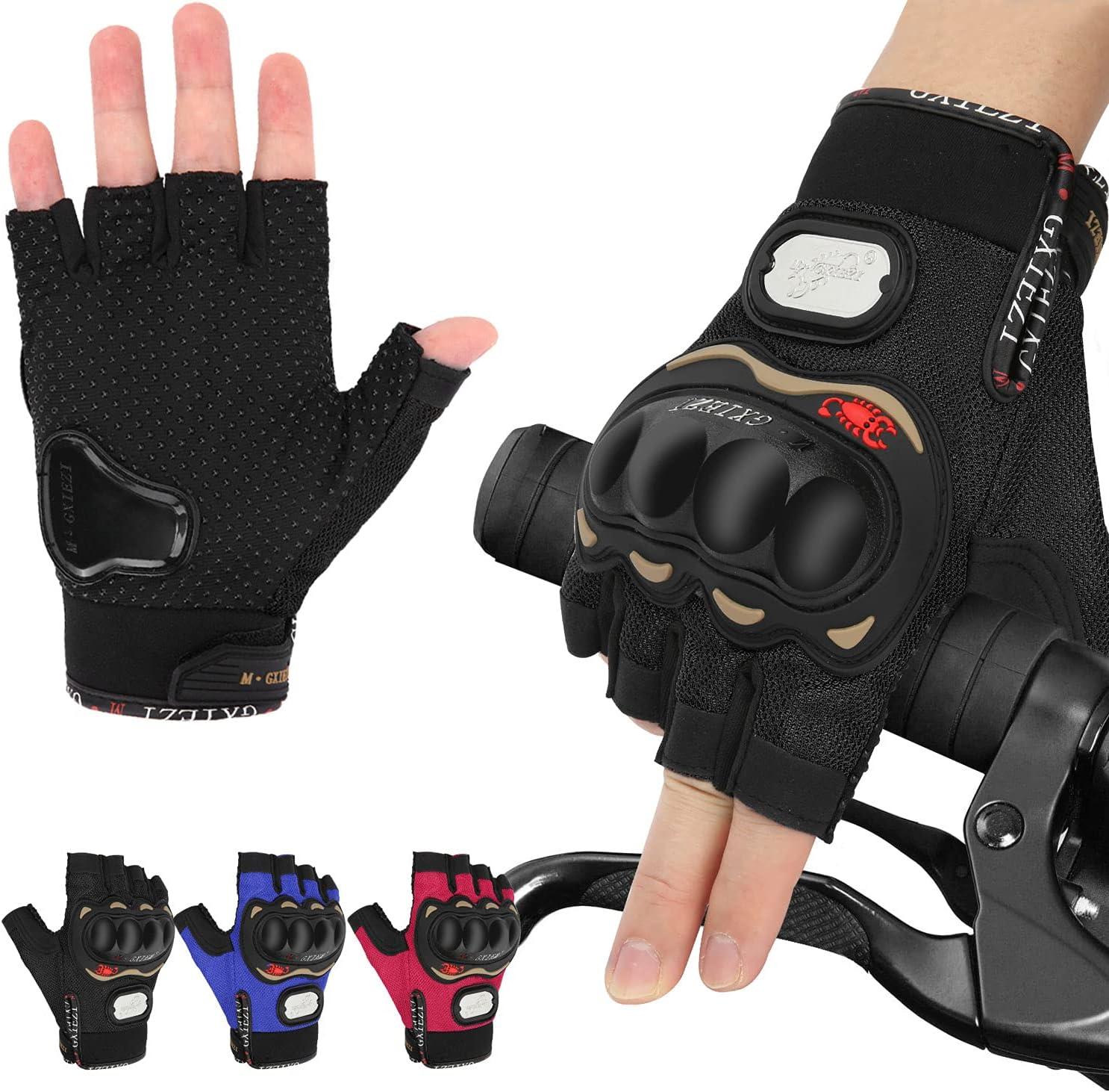 MTB Half Finger Bike Glove Anti Slip Mesh Cycling Breathable Bicycle Gloves