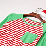 Stripe Pattern Christmas Dress for Mother and