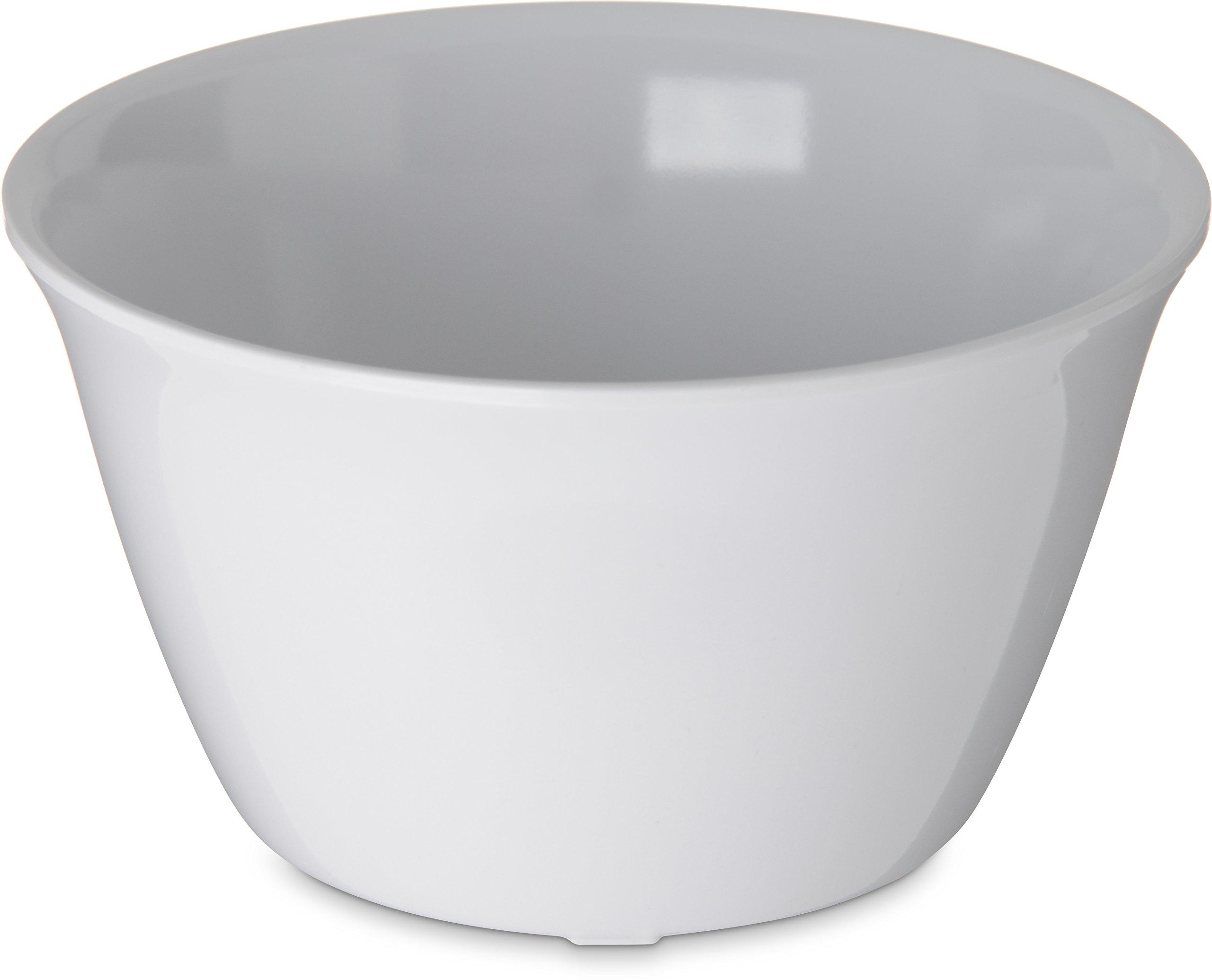 Carlisle 4354002 Dallas Ware Melamine Bouillon Cup, 8-oz. Capacity, 3.84 x 2.15'', White (Case of 24)
