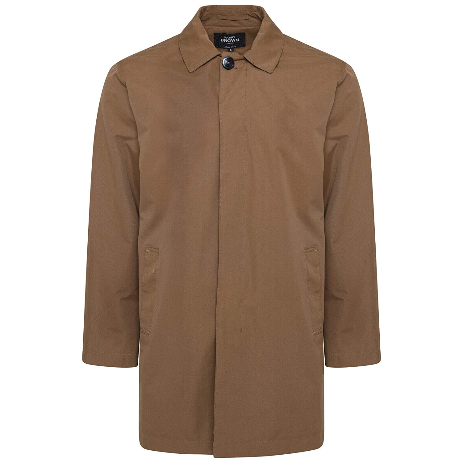 HARRY BROWN Trench Coat Big /& Tall Single Breasted Black