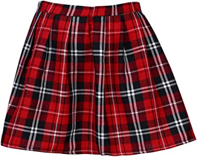 Gusspower Falda a Rayas, Mini Falda Mujer Plisada Escocesa ...