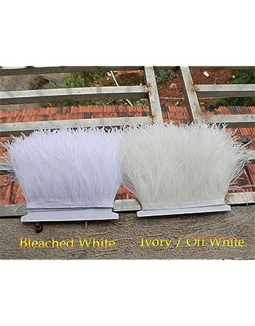 Flecos de plumas de avestruz de 34 colores para hacer sombreros o vestidos