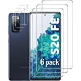 Galaxy S20 FE Screen Protector and Camera Protector, [3 Screen Protectors+3 Camera Protectors][Support Fingerprint] Tempered