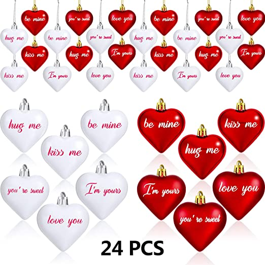 24/'/' Valentine/'s Day Heart Hanging Decoration Wedding Valentine/'s Day Foldable