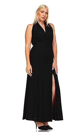 eb9b39e9735 Zoozie LA Women s Plus Size Convertible Magic Transformer Maxi Dress Black  1X