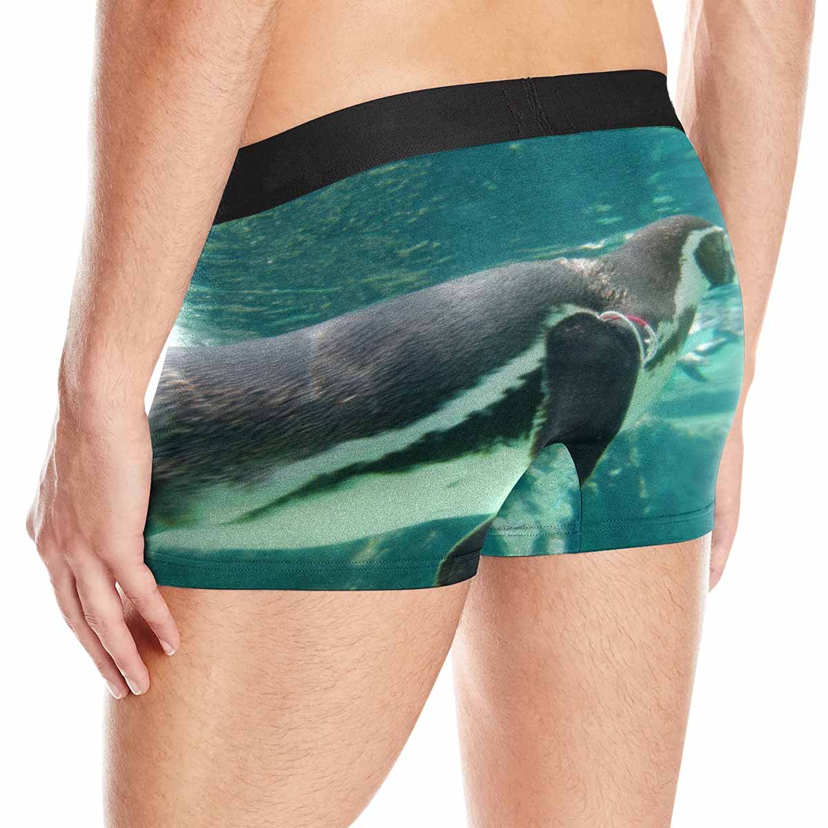 XS-3XL INTERESTPRINT Mens All-Over Print Boxer Briefs A Swimming Humboldt Penguin