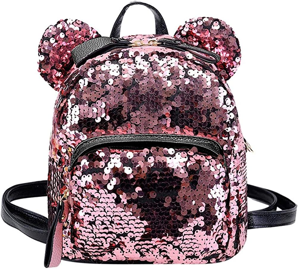 NELNISSA Women Sequins School Backpacks Enfants Voyage Casual Mini Sacs Shining