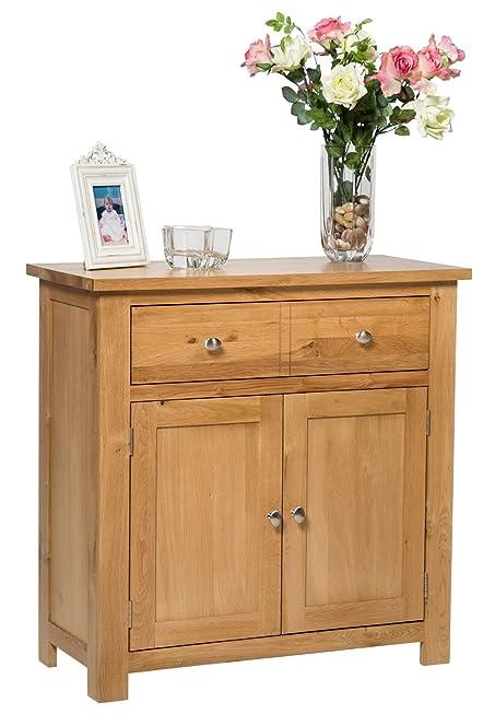 Waverly Oak 2 Door 1 Drawer Small Sideboard in Light Oak Compact ...