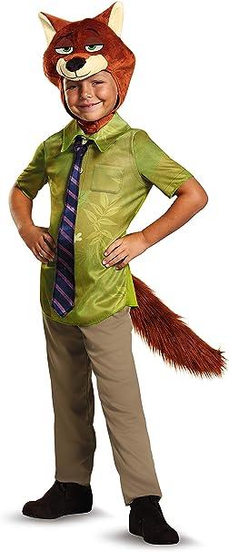 Brand New Disney Zootopia Nick Wilde Classic Child Costume
