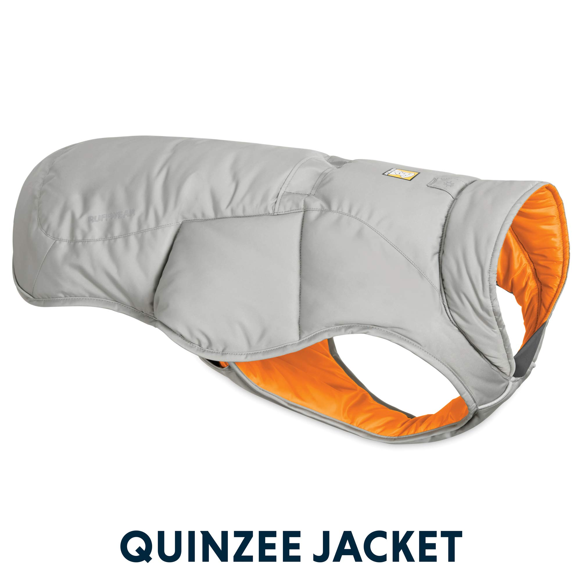 RUFFWEAR - Quinzee Insulated, Water Resistant Jacket for Dogs with Stuff Sack, Cloudburst Gray, XX-Small