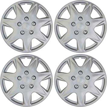 Set of 4 Universal 17 Silver Lacquer Hub Caps Wheel Covers Cover Trend