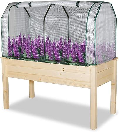 Garden Grow Raised Large Vegetable Planter Flower Bed Wooden Framed Trough NEW