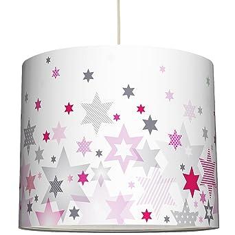anna wand Lampenschirm STARS 4 GIRLS ROSA/GRAU - Schirm für Kinder ...