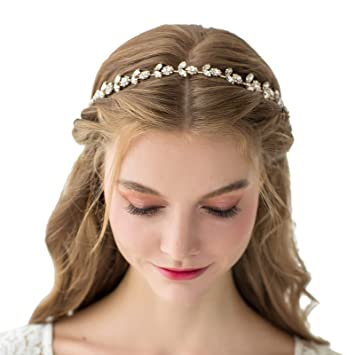 Jewelry & Watches Diamante Crystal Faux Pearl Wedding Tiara Headband Crown Wreaths Elegant In Style