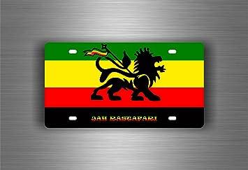 Akachafactory Selbstklebend Sticker Auto Rasta Reggae One Love Löwe Jamaikanische Flagge Ref16 Auto