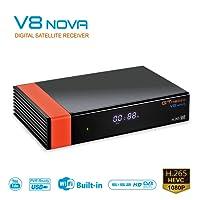 GT MEDIA V8 Nova DVB-S2 TV Receiver Digital Receptor de TV ricevitore satellitare decoder decodificador 1080P Full HD Soporte PVR PowerVu Biss clave Newcam CCCAM con Wi-Fi incorporado