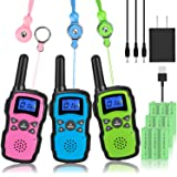 Wishouse Rechargeable Walkie Talkies for Kids with Charger 3X3000mAh Battery, Family Two Way Radio Adult Cruise Ship…