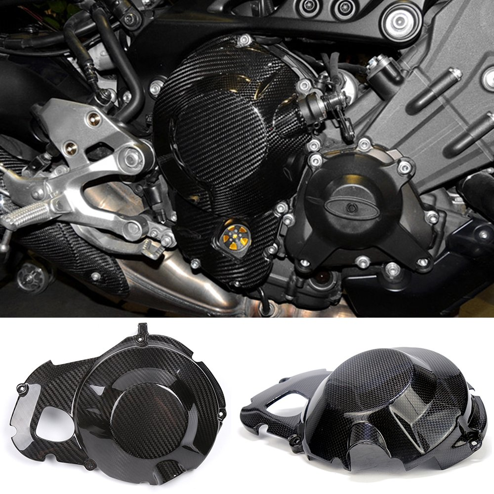 SMOK MOTOR YMT9005 Carbon Fiber Right Engine Startor Cover Protector for Yamaha MT-09 FZ-09