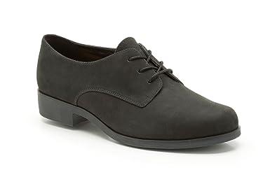 cf8d085f7 Clarks Womens Hamble Glass Shoes Black Leather Nubuck 8 UK  Amazon ...