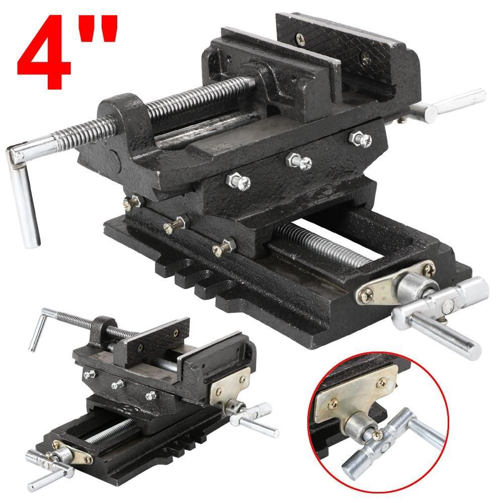 World Pride New Heavy Duty Cross Slide Drill Press Shop Vise X-Y Clamp Milling Machine (4'')
